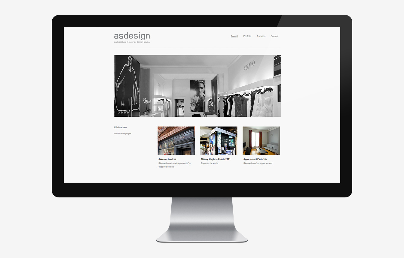 AS Design - Site Web