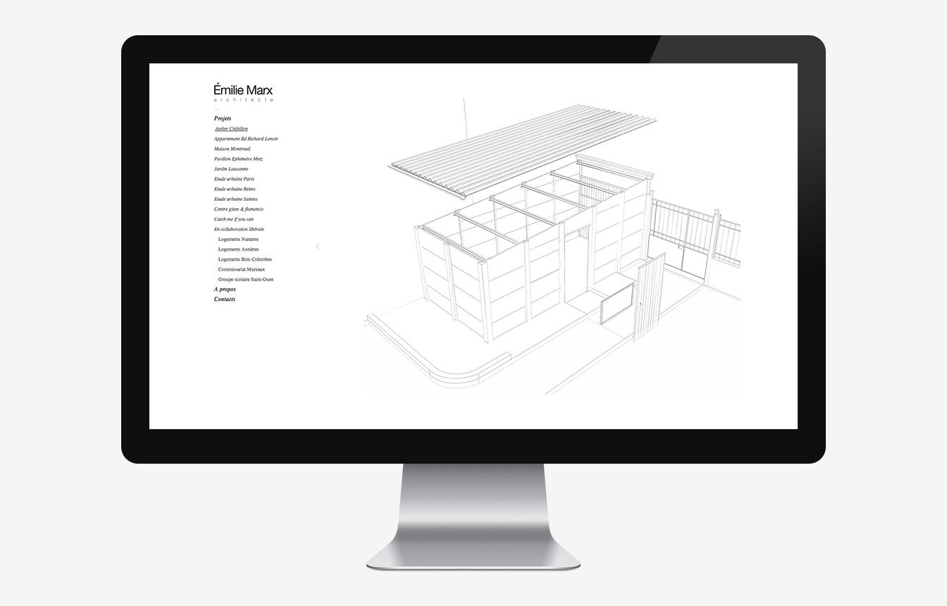 Emilie Marx - Site Web
