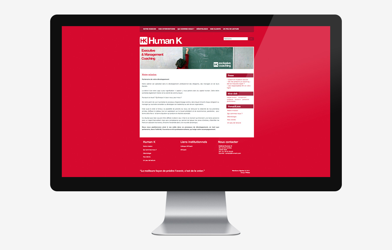 Human K - Site Web