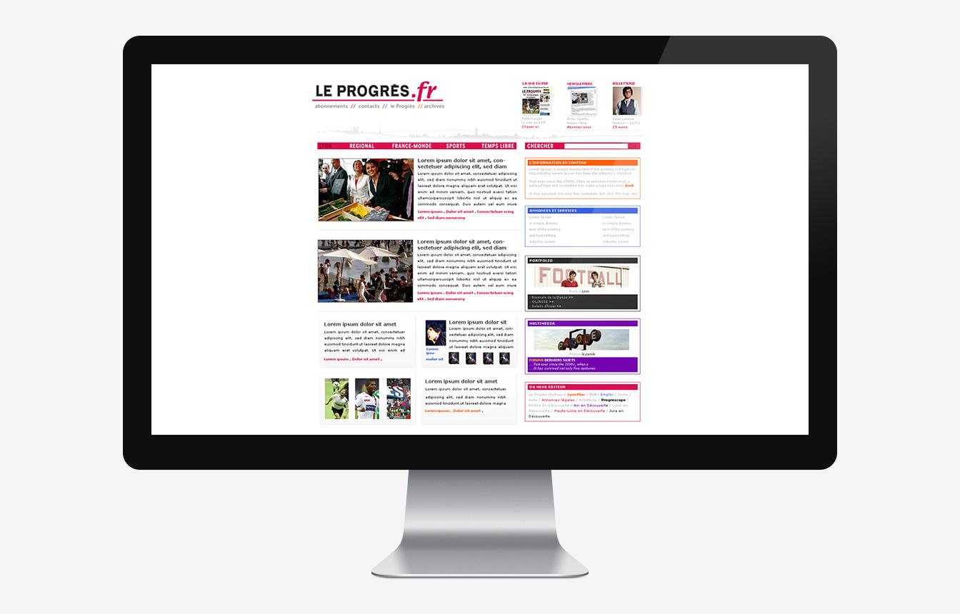 Le Progrès - Site web