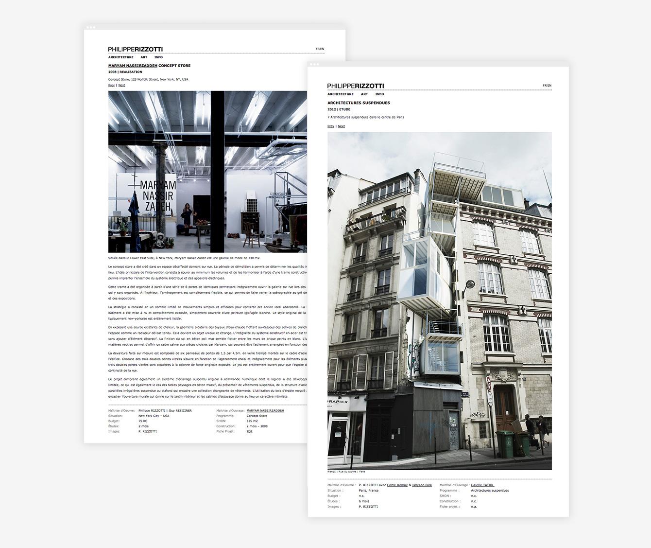 Philippe Rizzotti - Site Web Détails