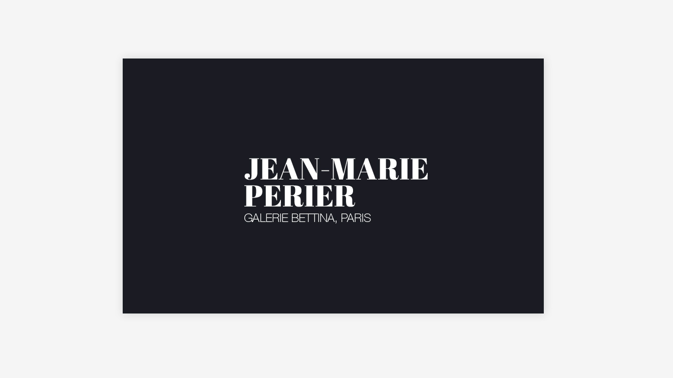 Jean-Marie Perier - Catalogue Bettina